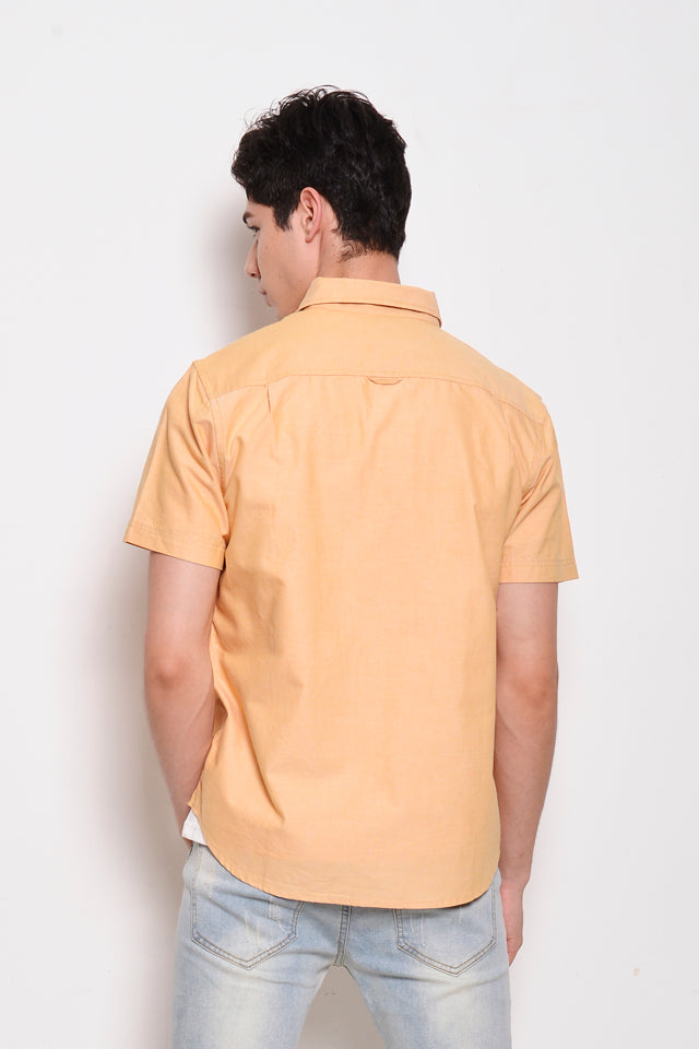 Short Sleeve Oxford Shirt - Yellow