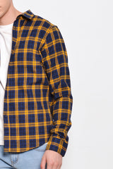 Checked Long Sleeve Shirt - Yellow