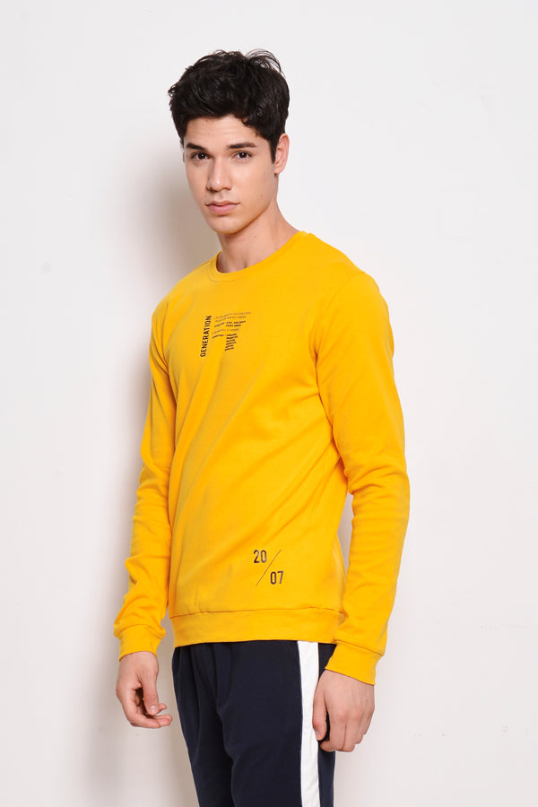 Long Sleeve Graphic Sweatshirt - Yellow