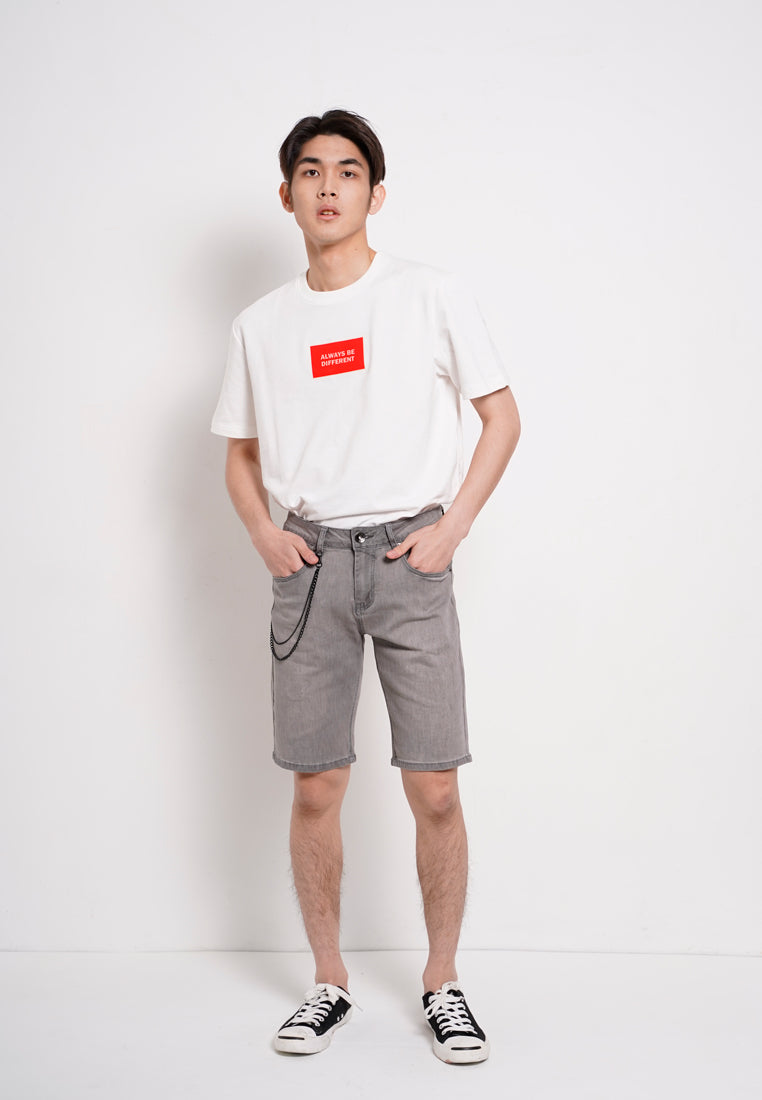 Men Denim Shorts - Grey - KQH20H2694