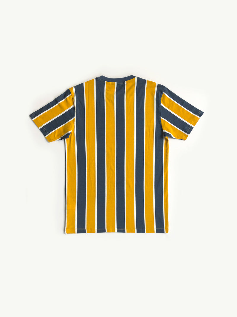 100% Cotton Vertical Stripe Tee - Yellow