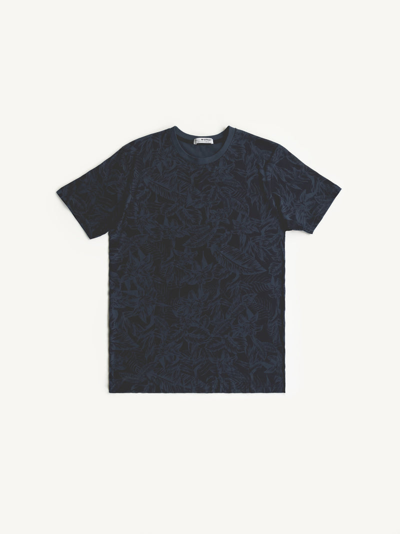 Graphic Short Sleeve Men T-Shirt - Navy