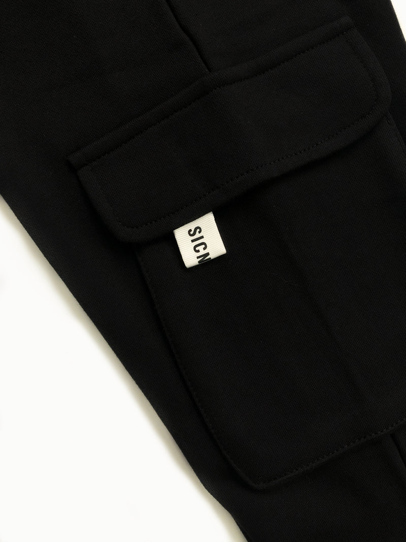 Knit Long Jogger  - Black
