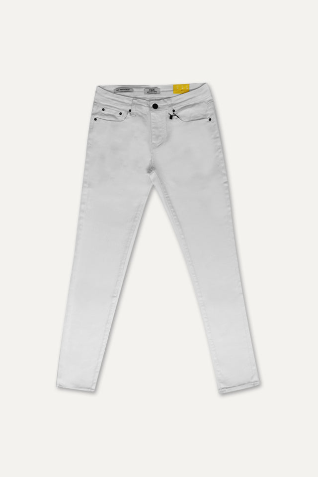 Slim Fit Long Jeans - White
