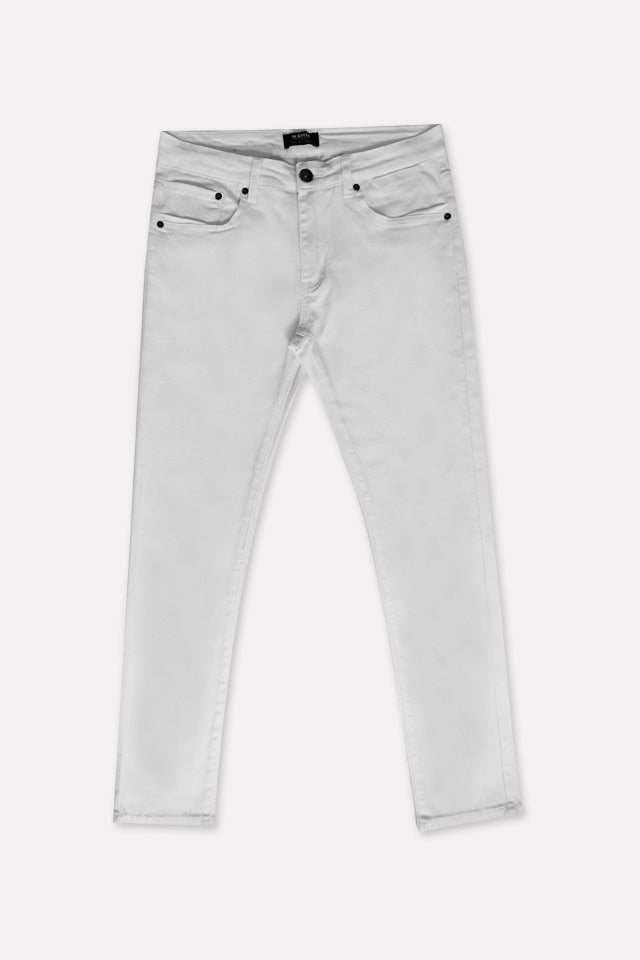 Men Skinny Long Jeans - White