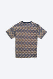 Men 100% Cotton Geometic Tee - Blue