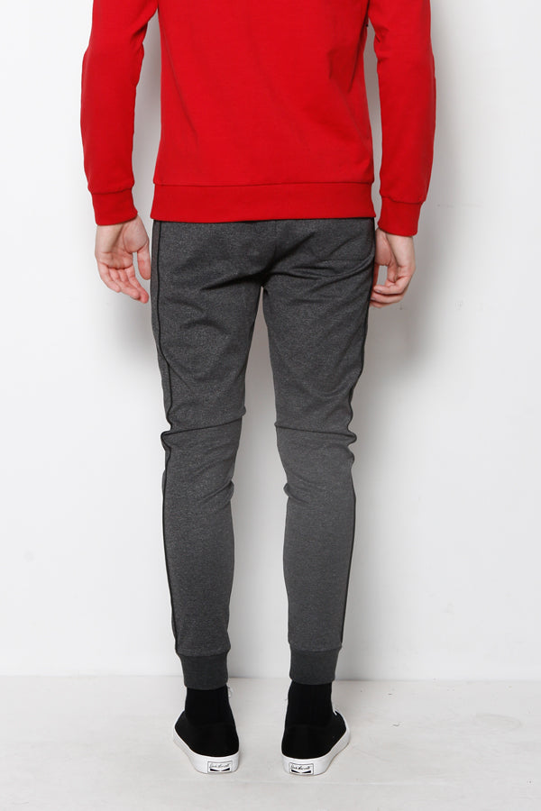 Long Jogger With Side Stripe - Dark Grey