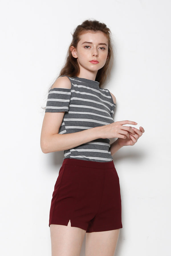 Cotton Short Pants - Maroon