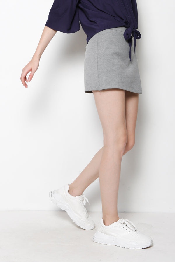 Wrap Front Skort - Dark Grey