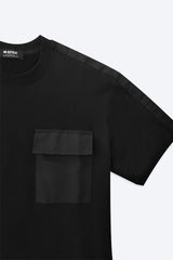 Short Sleeve T-Shirt With Pocket - Black