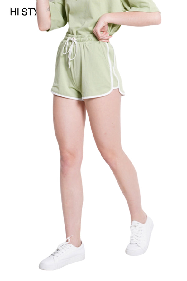 Short Knit Jogger - Light Green