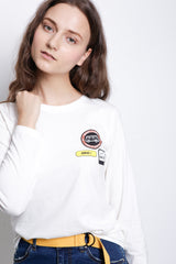 Long Sleeve Graphic T-Shirt - White