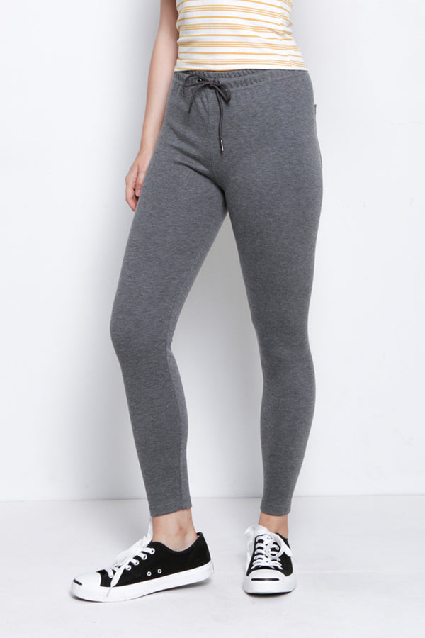 Legging With Drawstring - Dark Grey