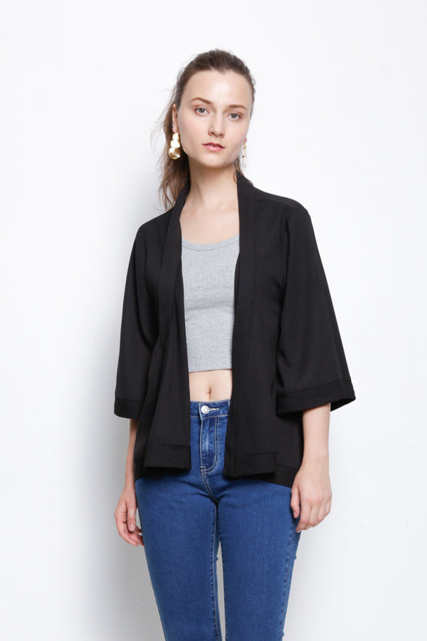 Long Cardigan - Black