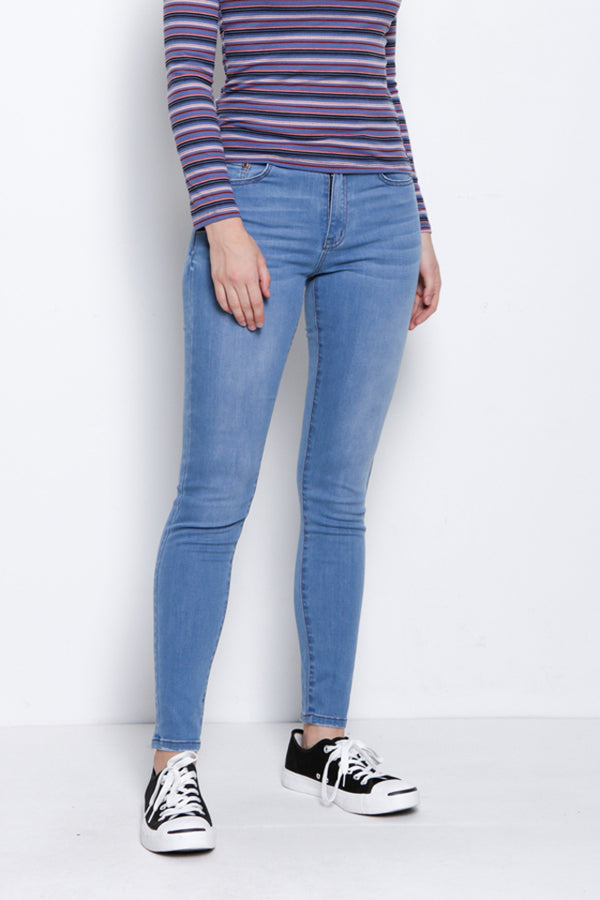 Mid Rise Slim Fit Long Jeans - Blue