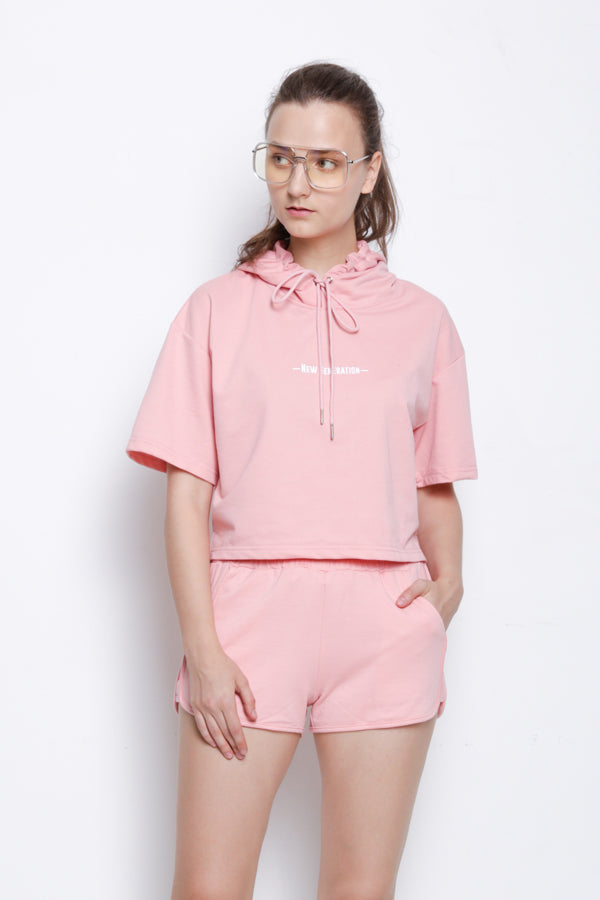 Women Sporty Short Jogger - Pink