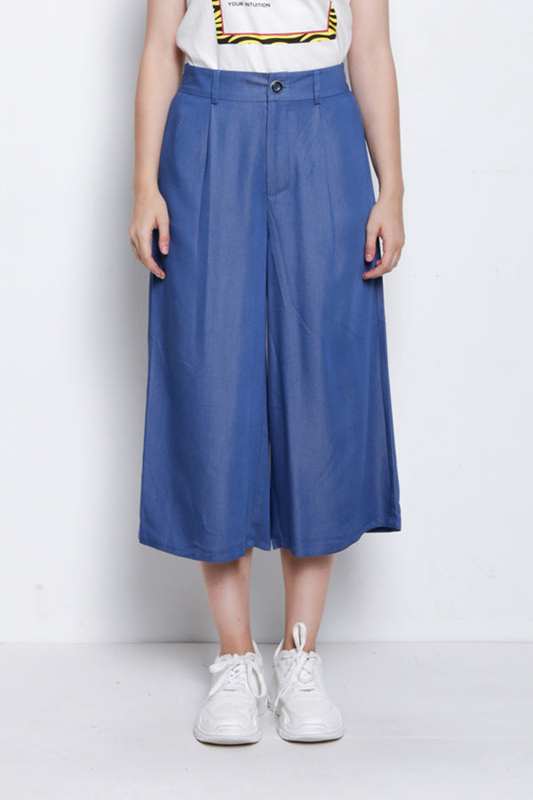 Woven Culotte - Light Blue