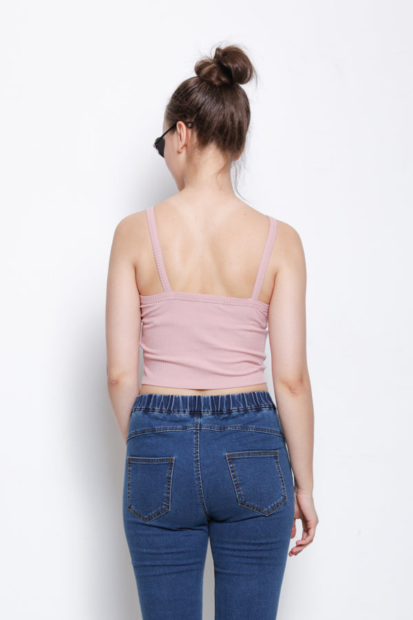 Ribbed Camisole Top - Pink