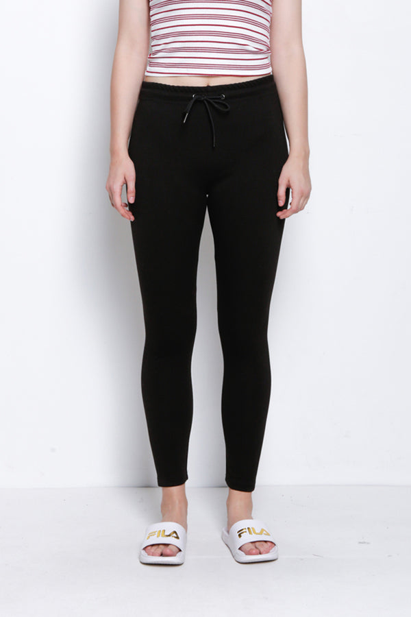 Legging With Drawstring - Black