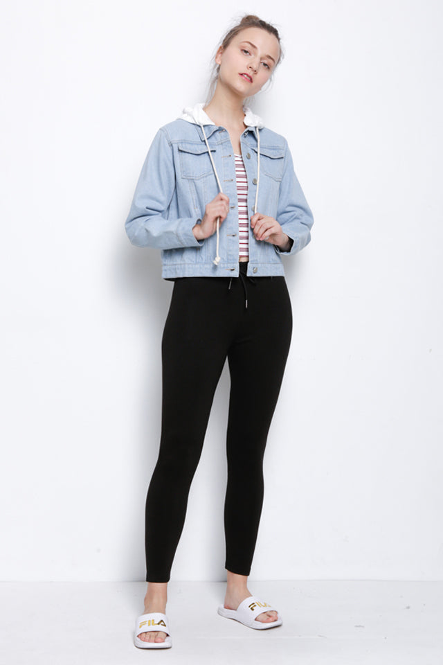 Legging With Drawstring - Navy