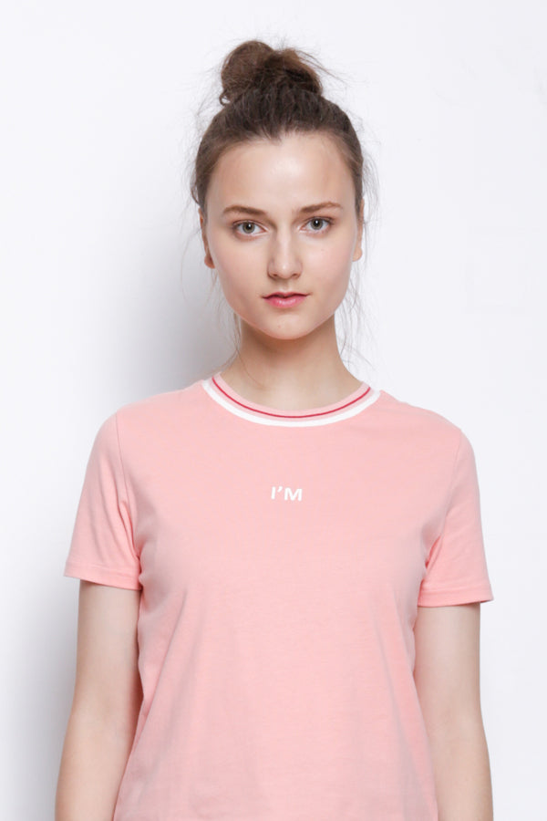 Short Sleeve Fashion Tee - Pink