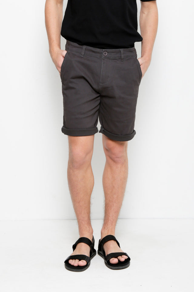Cotton Short Pants - Dark Grey