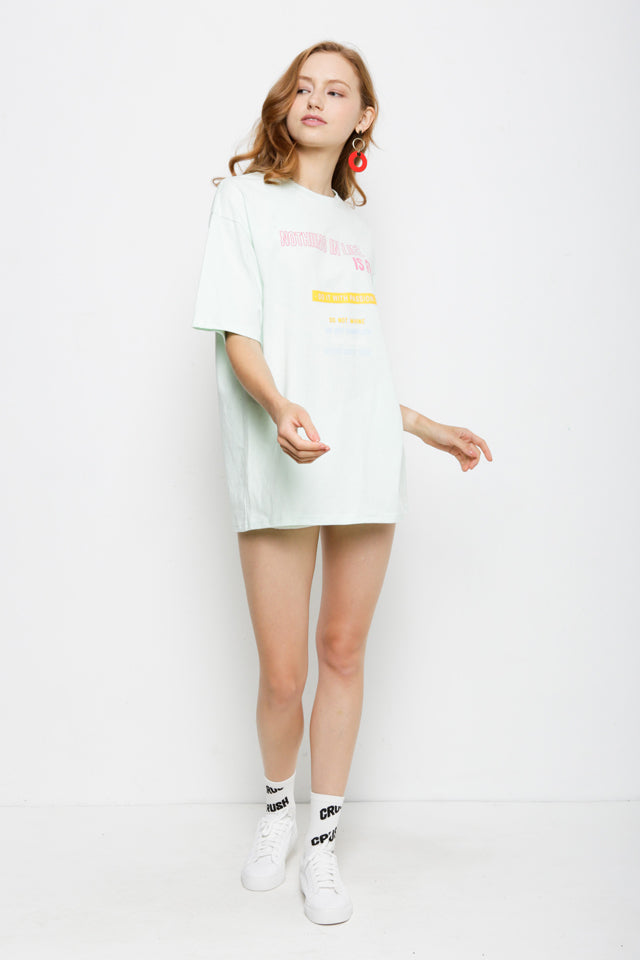 Oversize Graphic Tee - Green