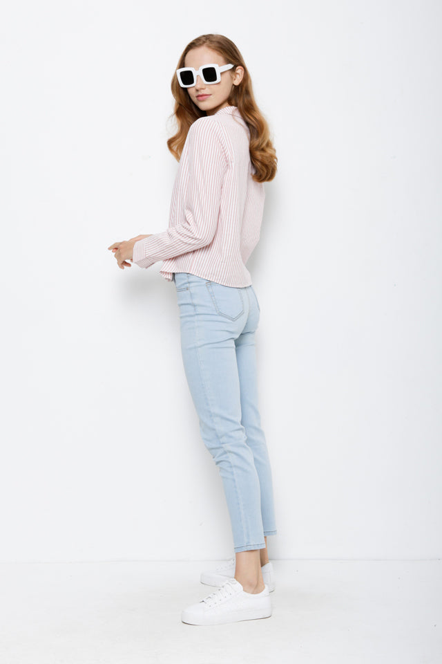 Stripe Long Sleeve Shirt - Pink