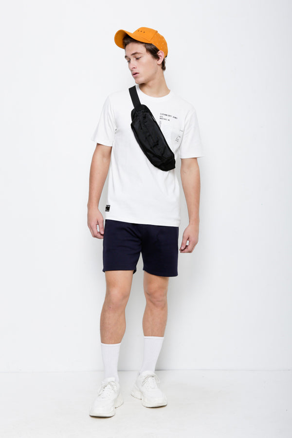 Casual Short Sleeve Tee - White