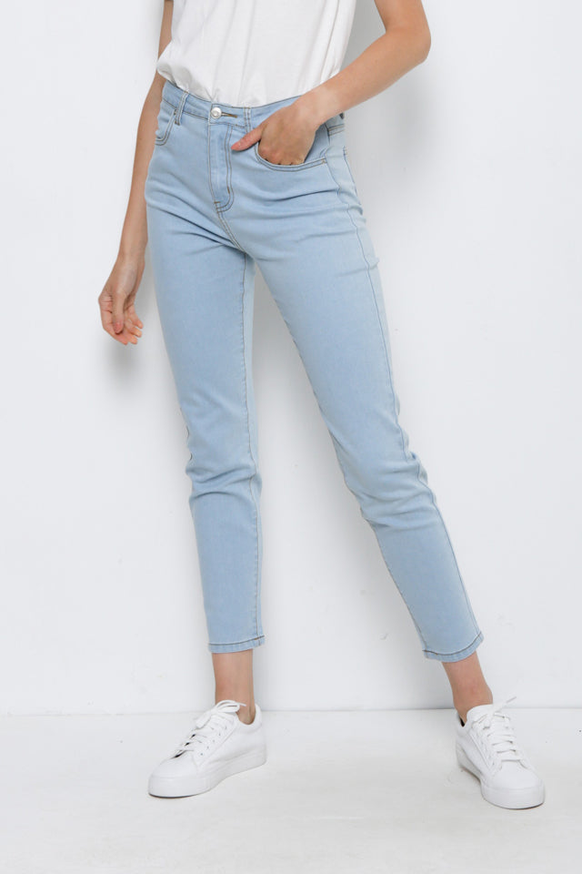 Skinny Fit Long Jeans - Lt. Blue