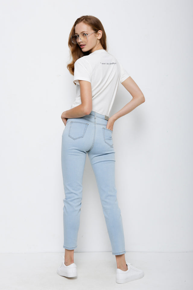 Women Skinny Fit Long Jeans - Lt. Blue
