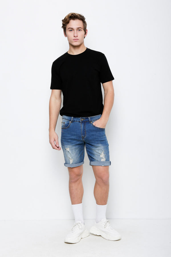 Denim Bermuda Shorts - Blue