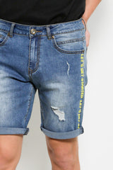 Stylish Denim Shorts - Blue