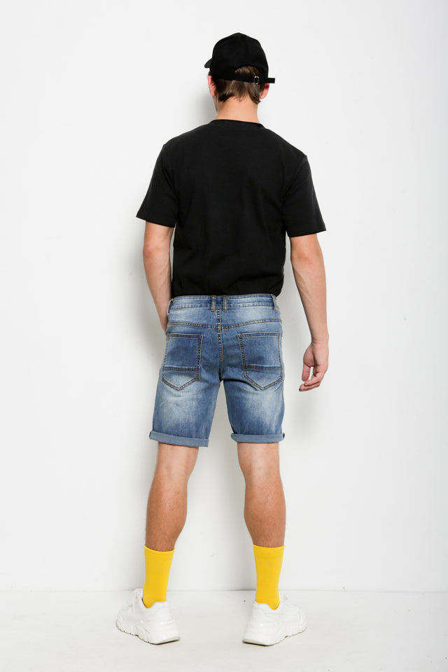 Men Stylish Denim Shorts - Blue