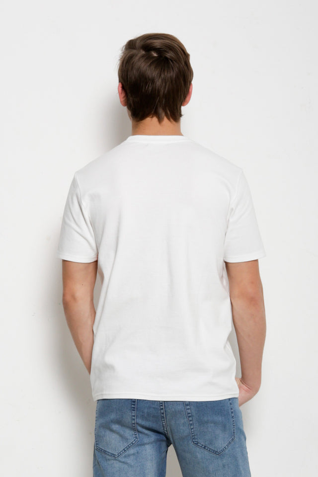 Cut & Sew Short Sleeve T-Shirt - White