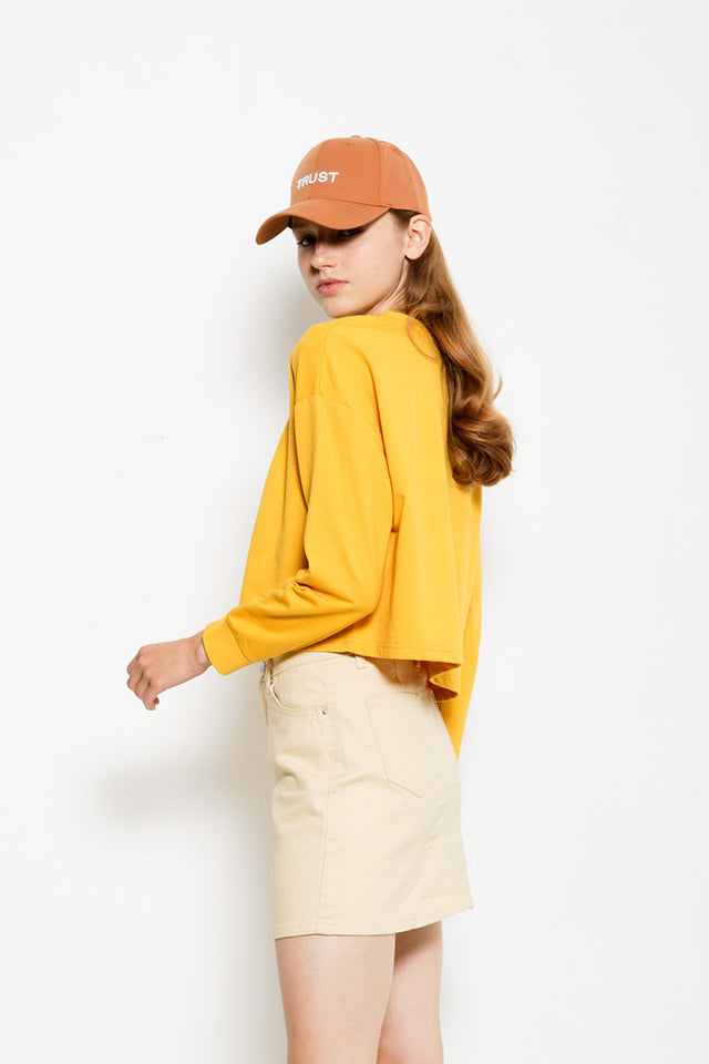 Long Sleeve Sweatshirt - Yellow