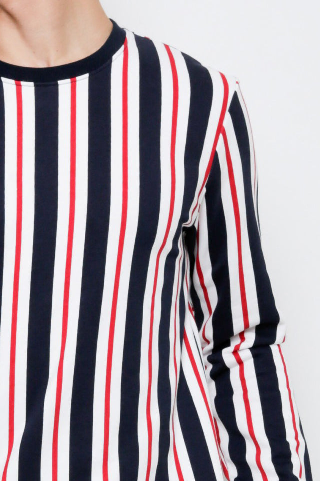 Men Vertical Stripe Sweatshirt - Navy - CPH9H2050
