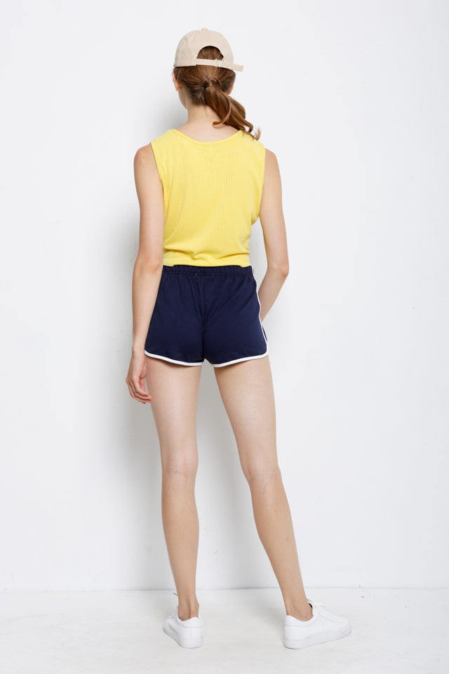 Sleeveless Tied Front Top - Yellow