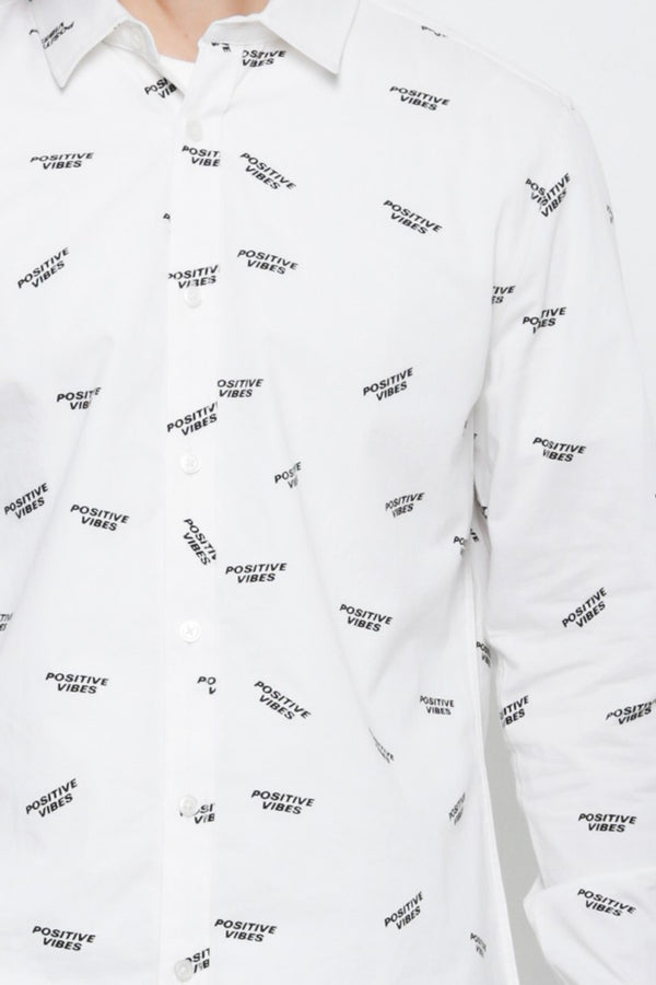 Graphic Long Sleeve Shirt - White