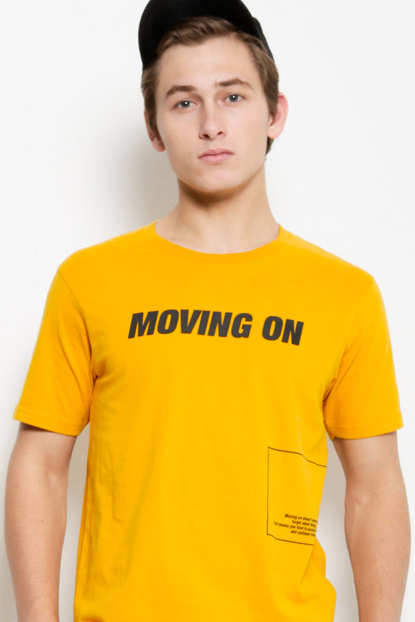 Graphic Short Sleeve T-Shirt - Yellow
