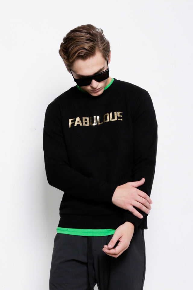 Long Sleeve Graphic Sweatshirt - Black