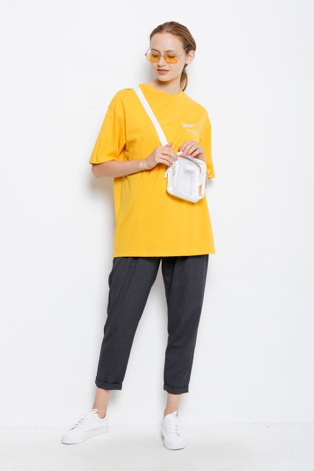 Oversize Graphic Tee - Yellow