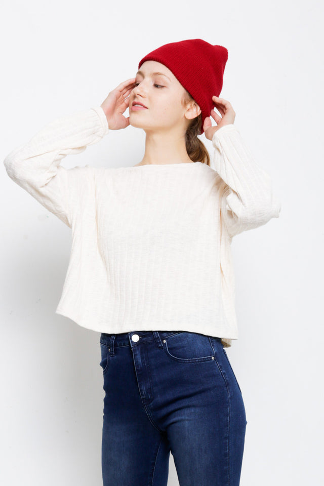 Long Sleeve Knitwear - White
