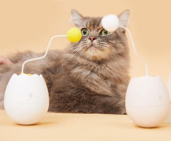 EgGo™ 360° Rotating Cat Toy