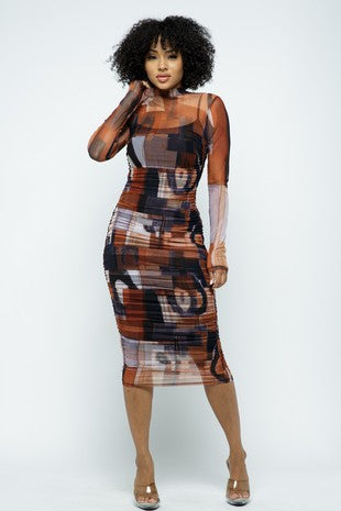 Mesh Abstract Allure Dress