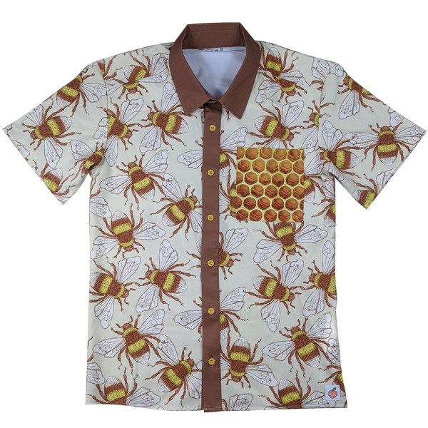 The Bumblebee Button Up - Sleepy Peach