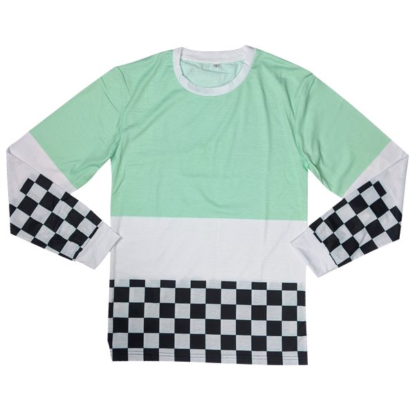 The Mint Chip Racer Shirt - Sleepy Peach
