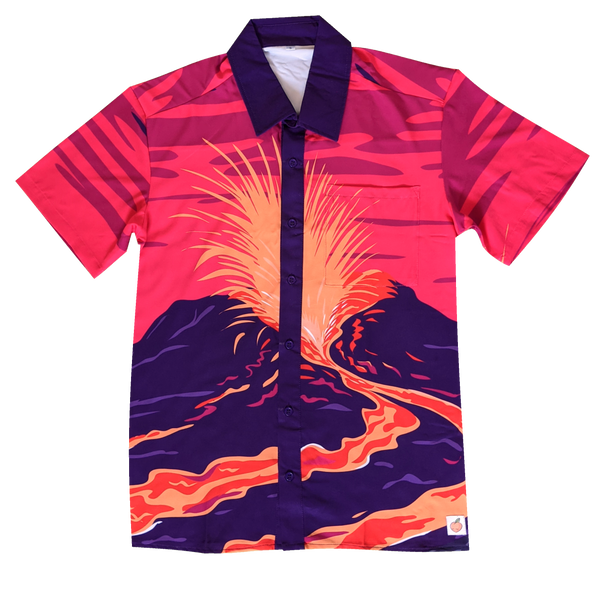 The Painted Volcano Button Up