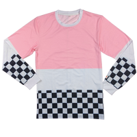 The Sakura Chip Racer Shirt - Sleepy Peach