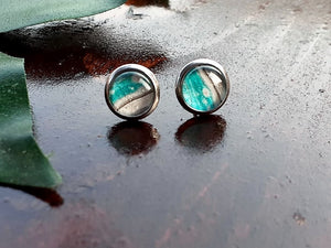 Sm Turquoise Canvas Studs